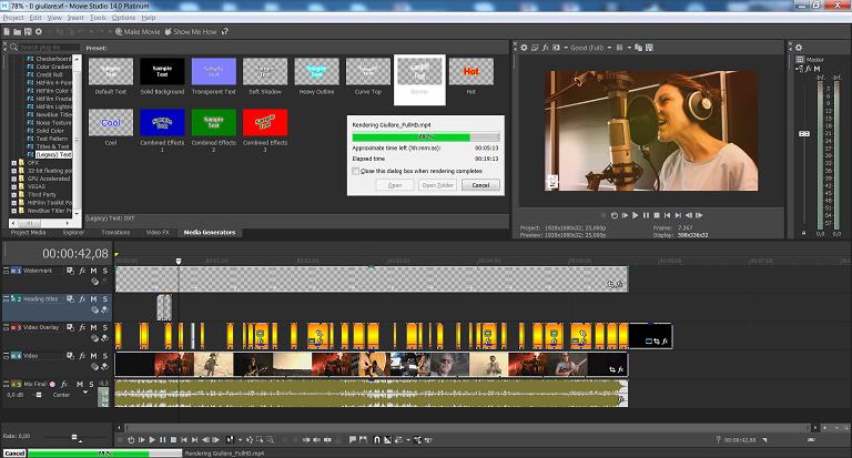 Rendering videos